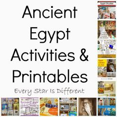 Every Star Is Different: Ancient Egypt Printables & Activities (KLP Linky)