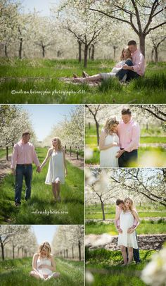 Maternity Photos by Melissa Bernazzani Photography. Maternity photos taken in Cherry Blossom Orchard in Traverse City, Michigan. www.melissabphotos.com. Contact Melissa to schedule your personalized photography session! Specializing in portraiture and wedding photography