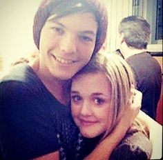Louis Tomlinson and his sister lottie