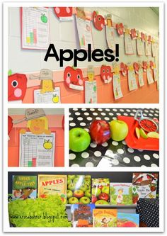 "This week my first graders and I immersed ourselves in everything apple. We used units by my fabulous friends and a new ""graphtivity"" by. Apple Activities, Teaching Activities, Autumn Activities, Teaching Ideas, Fall Preschool, Kindergarten Science, Apple Classroom, Classroom Ideas, September Activities"