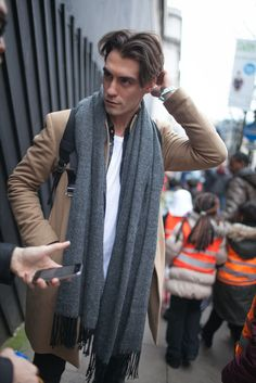 London Men's Fashion Week street style. My fave camel coat!