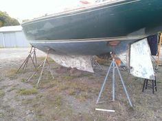 How to remove 40+ years of paint from the hull of a sailboat in a semi-easy way.
