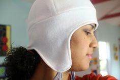 Fleece Ear Flap Hat - link includes PDF pattern & video tutorial.