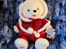 "20"" 2010 Retired Earthrite Fiber Snowflake Teddy Bear Dan Dee Christmas Female"