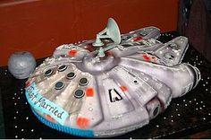 millenium falcon starwars cake