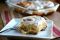 Sweet potato cinnamon rolls made with pureed sweet potatoes have been on my mind for as long as I can remember, but I just never got around to trying them out. So, when Jen from My Kitchen Addicti… Sweet Potato Cinnamon Rolls Recipe, Baked Doughnut Recipes, Pastry Recipes, Bread Recipes, Healthy Desserts, Healthy Foods, Sweet Recipes, Biscuits, Exercise Moves