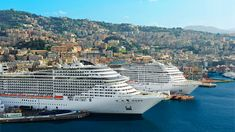 MSC Poesia and MSC Fantasia in Genoa  ✈✈✈ Here is your chance to win a Free International Roundtrip Ticket to Genoa, Italy from anywhere in the world **GIVEAWAY** ✈✈✈ https://thedecisionmoment.com/free-roundtrip-tickets-to-europe-italy-genoa/