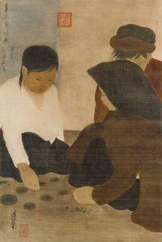 amare-habeo:  Nguyen Phan Chanh - Le Jeu des cases gagnantes, 1931   [Detail]