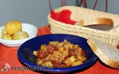 Krumplipaprikás magyarosan recept fotóval Cereal, Tacos, Mexican, Breakfast, Ethnic Recipes, Food, Red Peppers, Morning Coffee, Essen