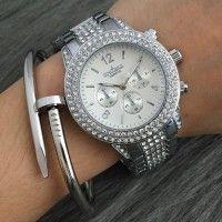 New 2016 Fashion Casual Clock Silver Bracelet