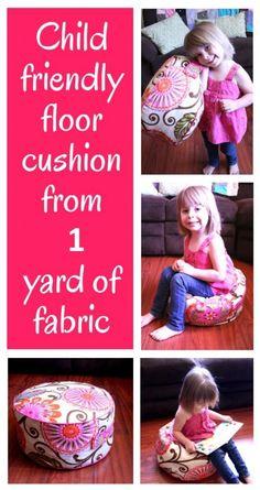 DIY - Make a fun Floor Cushion From 1 Yard of Fabric