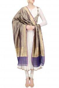 Royal Blue Zari Embroidered Banarasi Silk Dupatta #kalasangam #newcollection #shopnow #ppus #Happyshopping