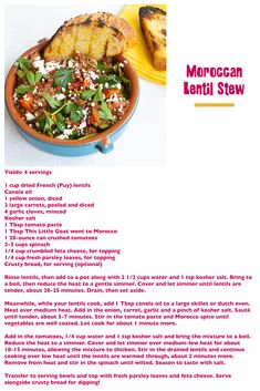 Goat Recipes, Lentil Stew, Soup And Sandwich, Tomato Paste, What You Eat, Lentils, How To Stay Healthy, Feta, Spinach