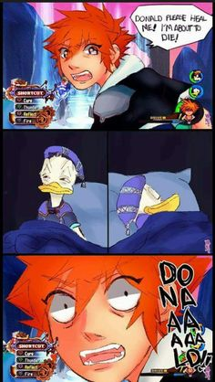 He needs to be called Dolan in Kingdom Hearts Kingdom Hearts 3, Video Games Funny, Funny Games, Anime Meme, Kh 3, Funny Cute, Hilarious, Disney And Dreamworks, Funny Comics
