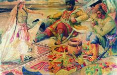 "Boris Kustodiev (Russia, 1878 – 1927) ""Stenka Razin"""