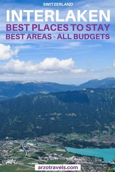 """Visiting one of the most beautiful areas in the world but you are not sure where to stay in Interlaken, Switzerland? Here are my tips for """"where to stay in Interlaken"""". The best areas and best hotels in Interlaken for all budgets (its from an Interlaken addict) I Hotels in Interlaken I Accommodation in Interlaken I #myswitzerland #inlovewithswitzerland #switzerland #schweiz I #myinterlaken #verliebtindieschwei"""