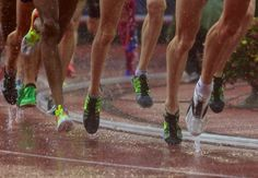Distance runners at 2012 Olympic Trials. Running Photos, Train Insane Or Remain The Same, Olympic Trials, Running In The Rain, Abdominal Fat, Running Workouts, Running Gear, I Work Out, Work Hard