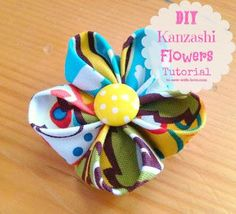 DIY Fabric Kanzashi Flowers