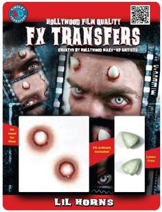 Tinsley Transfers Inc. - Lil Horns - 3D FX Transfers, $13.99 (http://www.tinsleytransfers.com/lil-horns-3d-fx-transfers/)