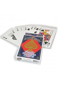 Jumbo Size Casino Playing Cards - Las Vegas Casino Party Decoration ideas
