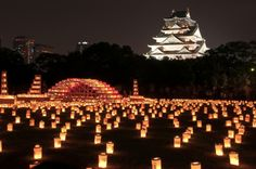 Osaka-Lantern Festival to honour the loved ones/ancestors that are no longer w/us. Plus Osaka is the foodie city of Japan