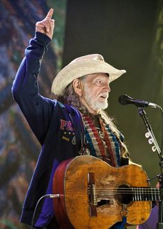 Willie Nelson at Farm Aid.