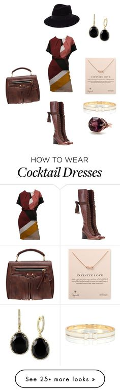 """""""Untitled #1061"""" by angelsdevildes on Polyvore featuring Fendi, Chloé, Maison Michel, Dogeared, Kate Spade, Effy Jewelry, women's clothing, women, female and woman"""
