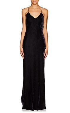 b100da1929bb Nili Lotan Bias-Cut Velvet Cami Gown