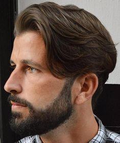 Medium Tapered Haircut With Beard #menshairstylesprofessional