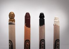 Star Wars characters carved into crayons! This is super impressive!