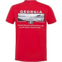 New World Graphics Men's University of Georgia Friends Stadium T-shirt (Red, Size Medium) - NCAA Licensed Product, NCAA Men's Tops at Academy Sports