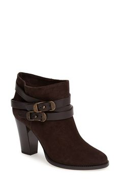 Jimmy Choo 'Melba' Bootie at Nordstrom.com. A bold, gilded contrast heel kicks up the gleam on a supple suede bootie girded in slender straps.