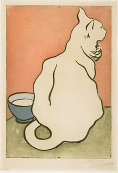 The White Cat | aquatint print | Francis Jourdain