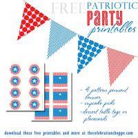 http://blog.thecelebrationshoppe.com/2012/04/19/free-patriotic-party-printables/