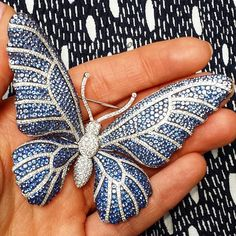 sale will be held in London on 18 March, and includes this sapphire and diamond butterfly brooch. #SothebysJewels
