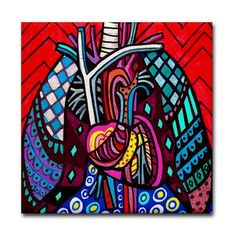 65% Off- Heart Lungs Anatomy Art Tile Ceramic Coaster Medical Science Print on Tile (HG130)
