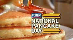 http://triangleartsandentertainment.org/wp-content/uploads/2016/03/ihop-national-pancake-day-large-3-e1456865306886.jpg - FREE PANCAKES NATIONWIDE AT IHOP® RESTAURANTS ON NATIONAL PANCAKE DAY - TUESDAY, MARCH 8 – 7 AM to 7 PM -  11th Annual Fundraiser Aims to Raise $3.5 Million for Children's Miracle Network Hospitals and Other Local Charities GLENDALE, CALIF.– National Pancake Day returns on March 8, 2016 at IHOP® Restaurants when participating IHOP locations nationw