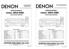 DENON DRA-295 DRA-395 Service Manual Complete Exploded View, Techno, Manual, Content, Textbook, Techno Music