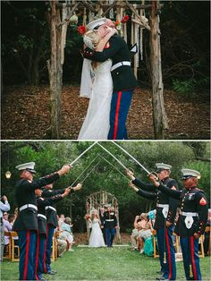 Outdoor Military Wedding Ideas: Beautiful Inspiration for a Military Wedding theme in a rustic setting #militarywedding #outdoorwedding