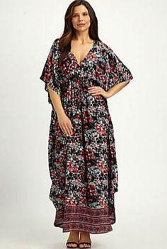 Tolani Plus Size Silk Caftan