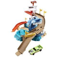 Amazon.com: Hot Wheels Color Shifters Sharkport Showdown Trackset: Toys & Games