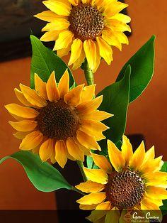 Sugarpaste Sunflowers