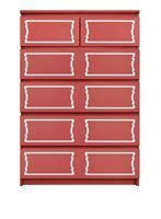 Show details for Dee Dee Double O'verlays Kit for IKEA MALM (6 drawer chest)