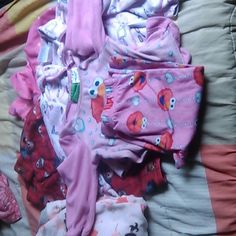 Variety little girl pajamas (see below different s A complete Elmo pajamas, long sleeved, cute 18 months. Feet pajamas, 24 months, long sleeves, covers feet. 3 long sleeve pajama tops, Cars, make up  polka dot, 3t,4t,6/7. One top is a little stained but barely noticeable. They need to go to a new home to a beautiful little girl! Other