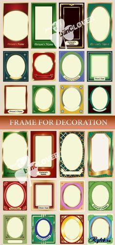 Векторные рамки для дизайна. Frame  for decoration