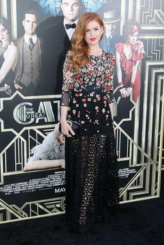 Isla Fisher en la premiere en Nueva York de 'El gran Gatsby'