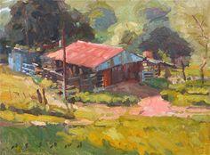 Daniel Aldana. Stables. 12 x 16