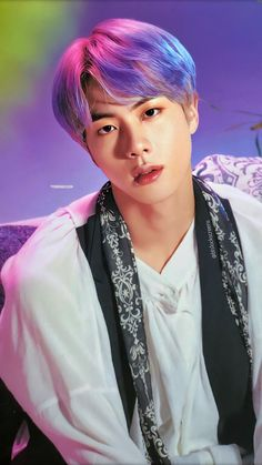 Purple haired Jin is a sight to behold! Seokjin, Jin Kim, Bts Jin, Foto Bts, Bts Photo, K Pop, V Bts Wallpaper, Les Bts, Funny Wallpapers