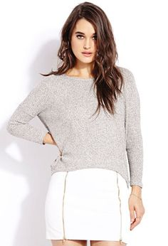 Off-Duty Sweater Top with Skirt