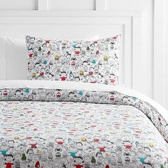 Peanuts®  Friends Flannel Duvet Cover + Sham #pbteen